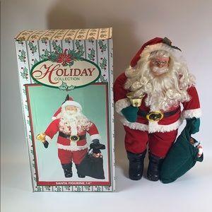 "Holiday collection Santa 14"" figurine"